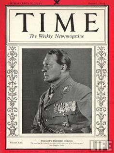 Time #8 - August 21, 1933 - Hermann Göring