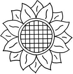 Sunflower Stencil, Sunflower Template, Sunflower Crafts, Sunflower Quilts, Sunflower Pattern, Sunflower Design, Sunflower Colors, Applique Patterns, Mosaic Patterns