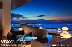 This image, taken from the outdoor seating area of Drift at the #Hilton #Pattaya, captures the hotel's unparalleled view of Pattaya Bay. View more stunning photography here: http://www.vrxstudios.com