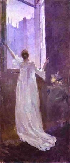 At the Window (Constantin Alexeevich Korovin - 1893)