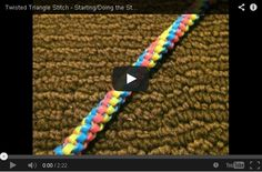 Laneyards: The Twisted Triangle Stitch
