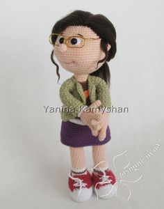 """PLEASE NOTE: THIS IS A PATTERN ONLY and NOT THE FINISHED TOY!!! MATERIALS AND TOOLS you will need: - beige color yarn for the main parts – I used less than 50 g of """"Jeans"""" by YarnArt; - red color yarn for the boots – I used less than 50 g of """"Jeans"""" by YarnArt; - white color yarn for the boots, cuffs, socks, the bottom of the blouse – I used less than 50 g of """"Jeans"""" by YarnArt; - yarn for the sweater – I used less than 50 g of brown color """"Jeans"""" by YarnArt; - yarn for the skirt – I used…"""