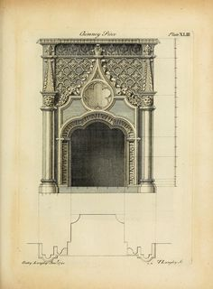 Design for a neogothic chimney piece