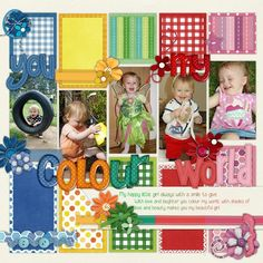 #papercraft #scrapbooking #layout     coole Farbaufteilung