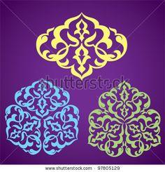Arabic Floral Patterns. Islamic Design Stock Vector 97805129 ...