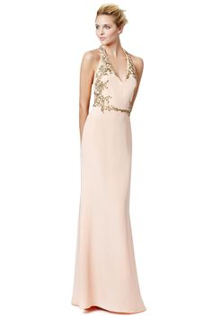 Gilded Frame Gown by Marchesa Notte.