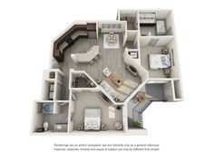 Floor Plans of Helios Apartments in Englewood, CO