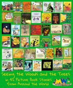 Mirrors Windows Doors reading list: Seeing the Wood and the Trees in 42 Picture Book Stories from Around the World Ya Books, Good Books, Reading Lists, Book Lists, Tree Day, School Librarian, Mentor Texts, Library Ideas, Autumn Fall