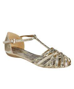 Loving this Gold Bianca Sandal on #zulily! #zulilyfinds