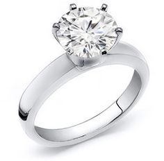 1 1/2 Carat Round Cut Diamond Solitaire Ring