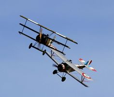 fokker dr1 and nieuport 17 #flickr #WW1 #replica