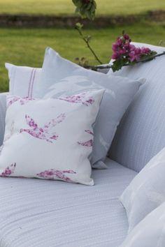 Birtles Goose in Wild Raspberry  #linen #grey linen #fabric #grey fabric #designer linen #designer fabric #coastal