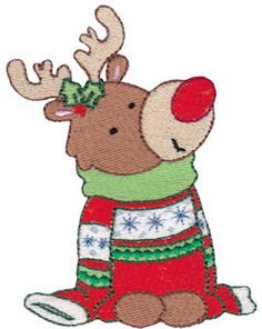 Bunnycup Embroidery | Free Machine Embroidery Designs | Rudolf SET or Individual Designs. Very cute!