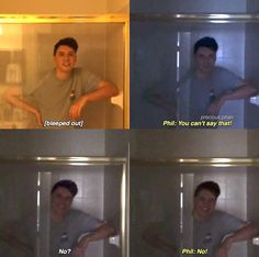 dan and phil in thomas sander's new video: story time mad libs part two! << why is he in the shower