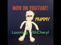 Rainbow Loom Mummy Halloween Figure - Looming With Cheryl. Tutorial is Now on YouTube! charms / figures / gomitas / gomas. Please Subscribe ❤️❤ m.youtube.com/user/LoomingWithCheryl
