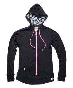 Take a look at the HBsuper by HoodieBuddie Black & Pink Clique Headphone Hoodie on #zulily today!