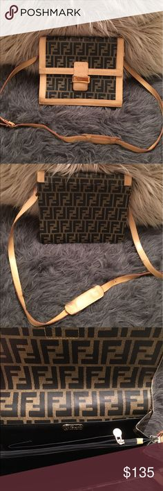 FLASH SALE 🆕 Vintage Fendi Crossbody Vintage Fendi Crossbody. Very Good pre-loved condition. Small mark on front (see pic), some loose threads. Fendi Bags Crossbody Bags