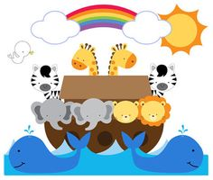 "NOAH'S ARK ANIMALS WALL MURAL DECALS BABY NURSERY KIDS ROOM ZEBRA STICKERS DECOR measures 24.75"" Tall and 29.25"" Wide #decampstudios"