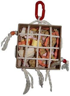 Jouet de recherche alimentaire pour perruches et perroquets - foraging toy for budgies and parrots