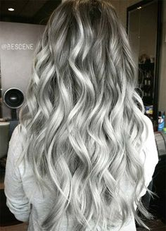 Trendy Hair Color Picture DescriptionA silver hair color is our future. That is why we have created a photo gallery featuring the sassiest looks with silver and we will also help you learn how to get and then how to maintain a super-chic silver hair hue. Ombre Hair, Wavy Hair, Dyed Hair, Beautiful Hair Color, Cool Hair Color, Cool Tone Hair Colors, Hair Colours, Charcoal Hair, Hair Color 2017