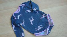 Babybody mit Hirschen in rosa - etwas trachtig