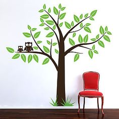 [ Wall Stickers Tree Grasscloth Wallpaper Large Windy Decal This Decals Features Hundreds ] - Best Free Home Design Idea & Inspiration Wall Stickers Uk, Owl Wall Decals, Owl Wall Art, Tree Decals, Nursery Wall Stickers, Childrens Wall Stickers, Family Tree Wall Decal, Flower Wall Stickers, Baby Room Decor