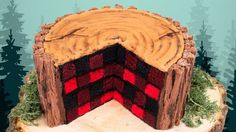 Today I am showing you how to make a lumberjack cake for Canada day! This is a checkerboard cake decorating design in a plaid pattern that will impress anyone when you slice into it and reveal the surprise! Lumberjack Cake, Lumberjack Birthday Party, First Birthday Parties, First Birthdays, Birthday Ideas, Cake Birthday, Christmas Birthday Cake, Checkered Cake, Canada Day Party