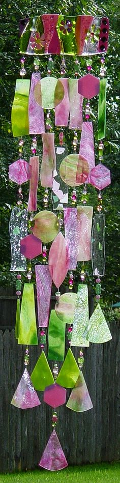 I love this wind chime...I can only imagine the pretty music this makes in the wind...