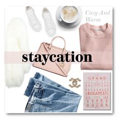 """""""Staycation Cozy And Warm"""" by voguefashion101 ❤ liked on Polyvore featuring H&M, Michael Kors, Alexander McQueen, Philipp Plein, women's clothing, women's fashion, women, female, woman and misses"""