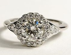 Mix of modern and vintage engagement ring