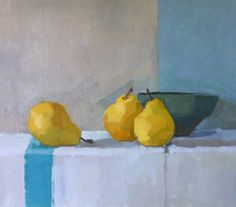 Yellow Pears#still-life#painting#SarahSpackman#oil on linen