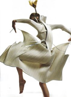 The shape and movement of Issey Miyake... structured, graceful, at once timeless and modern.