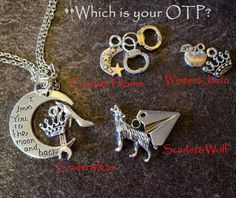 Who is your OTP from the Lunar Chronicles series? New necklaces available at NightFoxCreations.etsy.com