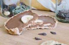 tartelette banane chocolat healthy vegan
