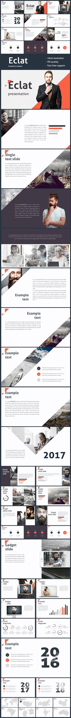 Eclat Powerpoint template - Creative PowerPoint Templates