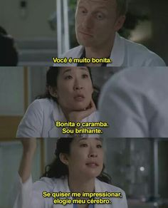 Grey's anatomy — dr. Yang is amazing Grey's Anatomy, Greys Anatomy Frases, Owen Hunt, Cristina Yang, Film Books, Film Quotes, Best Tv, Beautiful Words, Tv Shows