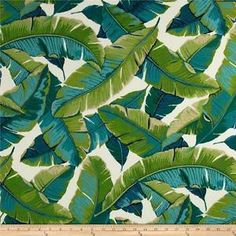 Balmoral Opal INDOOR/OUTDOOR FABRIC Richloom Palm Tree Fabric by the yard