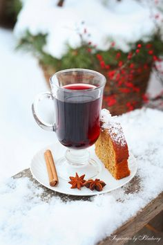 Glühwein - we had this for the first time at a St. Martin's day celebration this past weekend.  It's delicious!  It's a traditional German winter/Christmas drink.