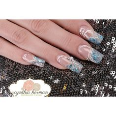 Ice queen Nail Art Gallery ❤ liked on Polyvore featuring nails