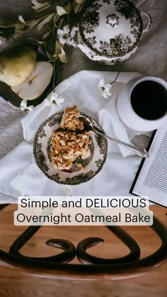 Breakfast Cereal, Free Breakfast, Breakfast Dishes, Overnight Oatmeal, Baked Oatmeal, Easy Family Meals, Easy Meals, How To Double A Recipe, Simple Living