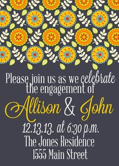 Engagement party Invitation (digital file)