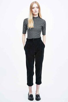 Urban Renewal Vintage Remnants Cord Trousers in Black