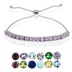 Shop for Glitzy Rocks Sterling Silver Birthstone Adjustable Slider Bracelet. Free Shipping on orders over $45 at Overstock.com - Your Online Jewelry Destination! Get 5% in rewards with Club O!