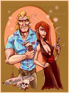 VB Tiki Party - Brock and Molv by =SpookyChan on deviantART