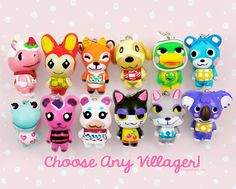 CHOOSE ANY VILLAGER Animal Crossing Clay by ComsicalCreations