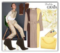 """Coat"" by grahovskaya ❤ liked on Polyvore featuring Barneys New York, Hermès, Marni, Charlotte Russe, Vera Bradley and Jil Sander"