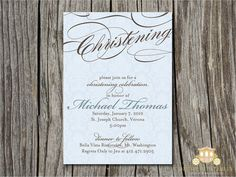 baptism invitation #baptism #christening #invitation