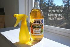 Homemade Detangling Hair Rinse  *ALSO one of the funniest posts I've read in a long time.