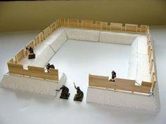 Tutorial para la Construccion de un Fuerte Romano Modular Basico - Escala 28mm.
