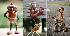 Ötletes figurákat alkot makkokból
